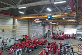 HORSCH manufacturing facilities in Ronneburg, Germany